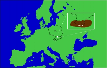 Carpathian Mountains On World Map.A Transboundary Biosphere Reserve In The Carpathians Global