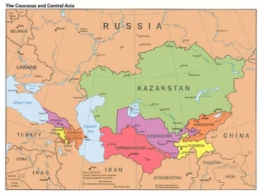 Boundary Map Of Asia.Central Asia Transboundary Biodiversity Project Global